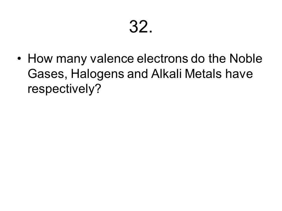 31. What does the term valence mean?