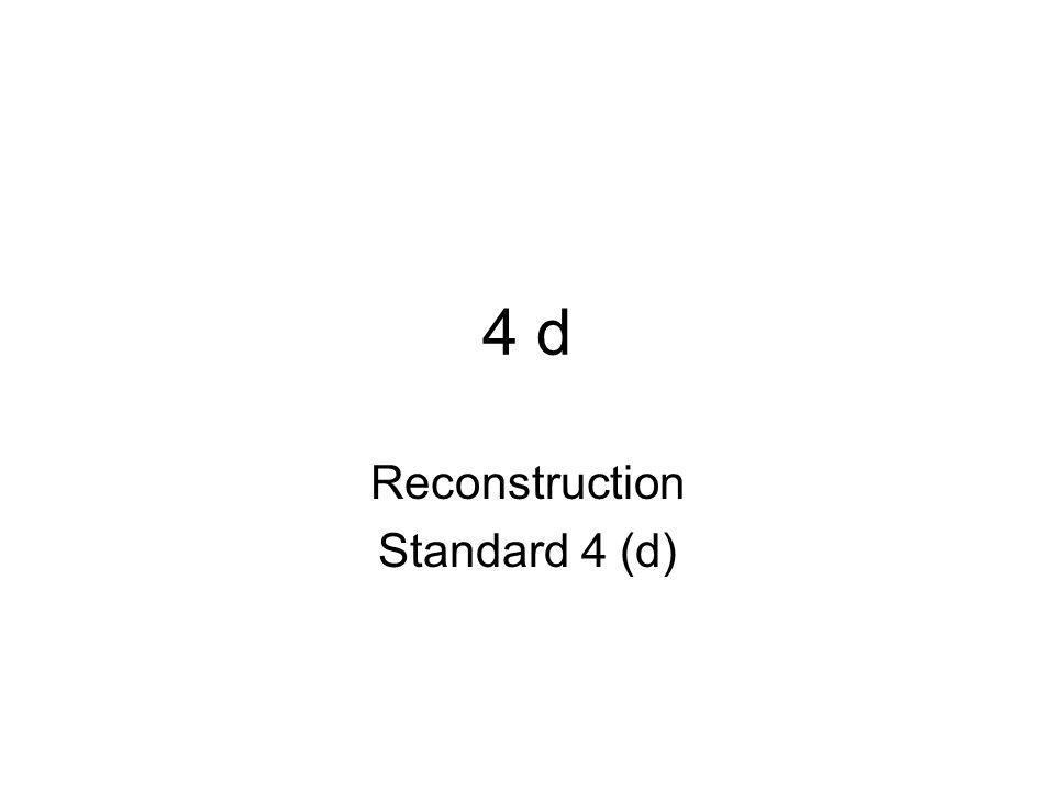 Reconstruction USHC-4.4 Summarize the effects of Reconstruction on the southern states and the roles of the Thirteenth, Fourteenth, and Fifteenth Amendments in that era.