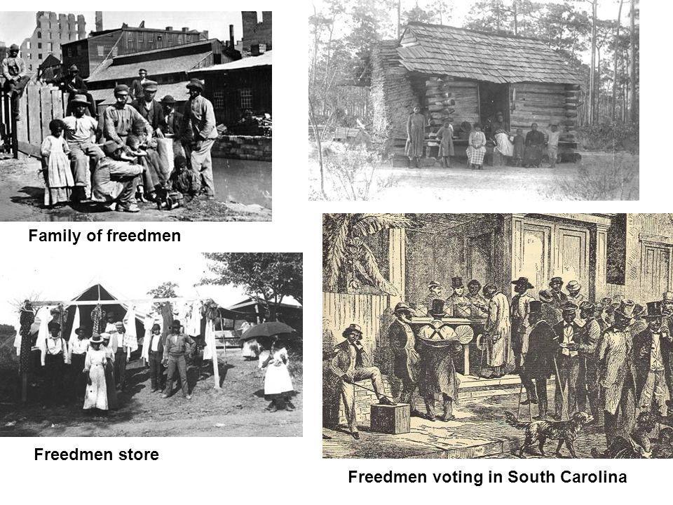 Freedmen voting in South Carolina Family of freedmen Freedmen store