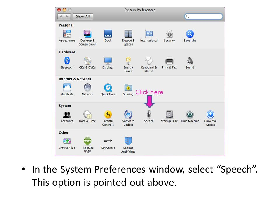 Speech Recognition allows the user to control the computer using his/her voice instead of the keyboard and/or mouse.