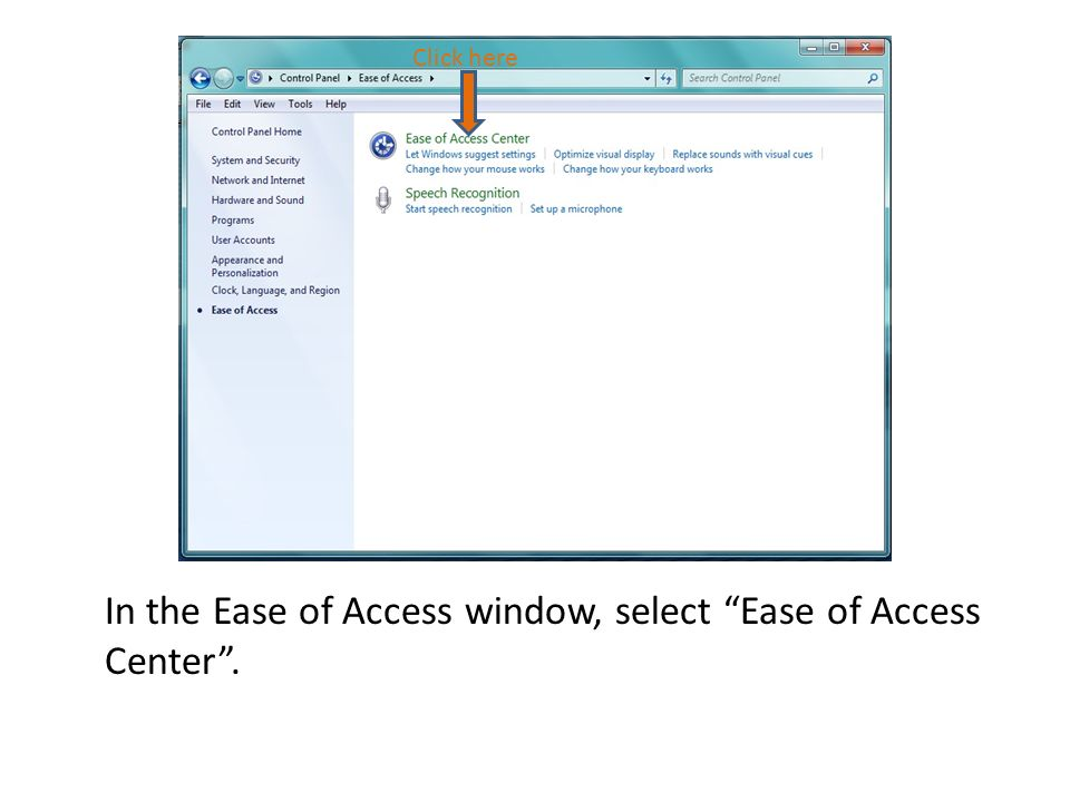 After selecting Start Speech Recognition, the user will be led through the tasks listed below.