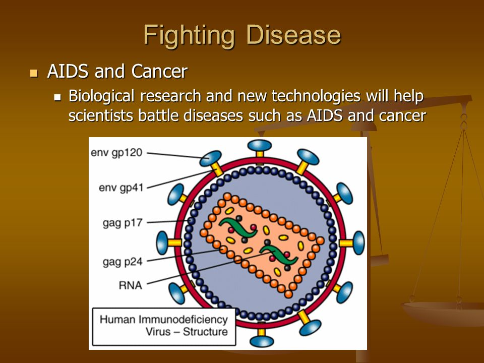 Fighting Disease AIDS and Cancer AIDS and Cancer Biological research and new technologies will help scientists battle diseases such as AIDS and cancer
