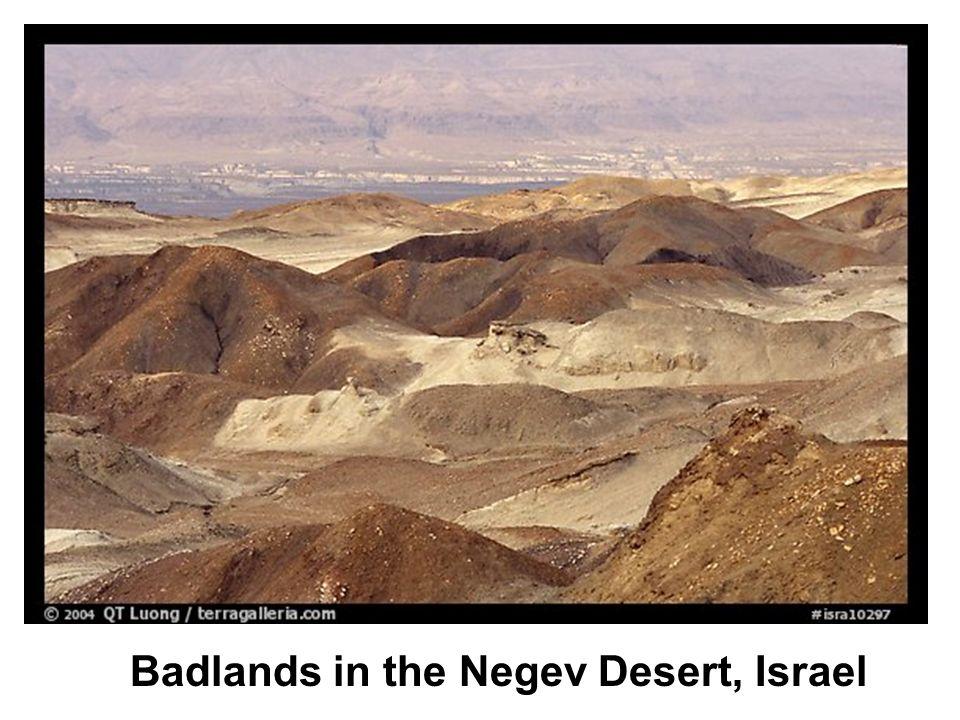 Badlands in the Negev Desert, Israel