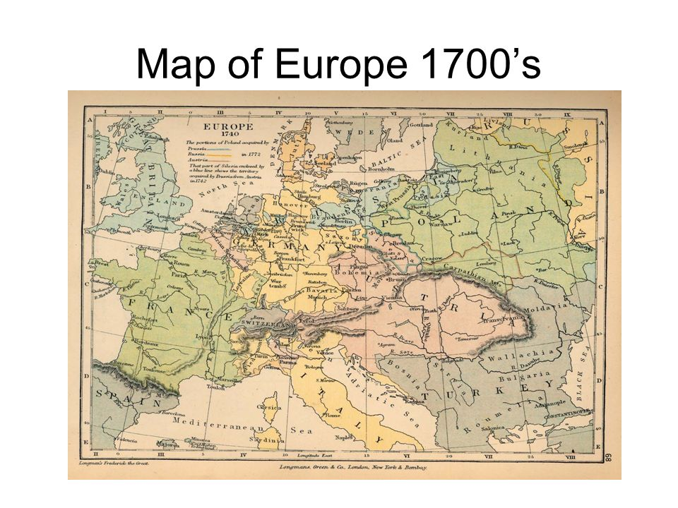 Map of Europe 1700s