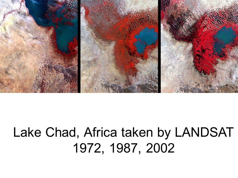 Lake Chad, Africa taken by LANDSAT 1972, 1987, 2002