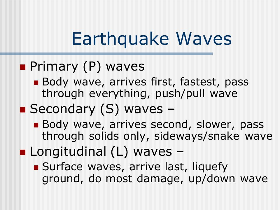 Locating an Earthquake Determined by the difference in arrival times between P and S waves Know the graph on page 225 Need at least 3 points to determine the location (triangulation) EQ zones – circum-Pacific belt and oceanic ridge system