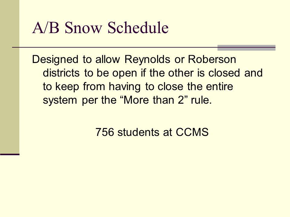 AC Reynolds – 406 student Cane Creek Rd.east of Cross Creek Farm Rd.