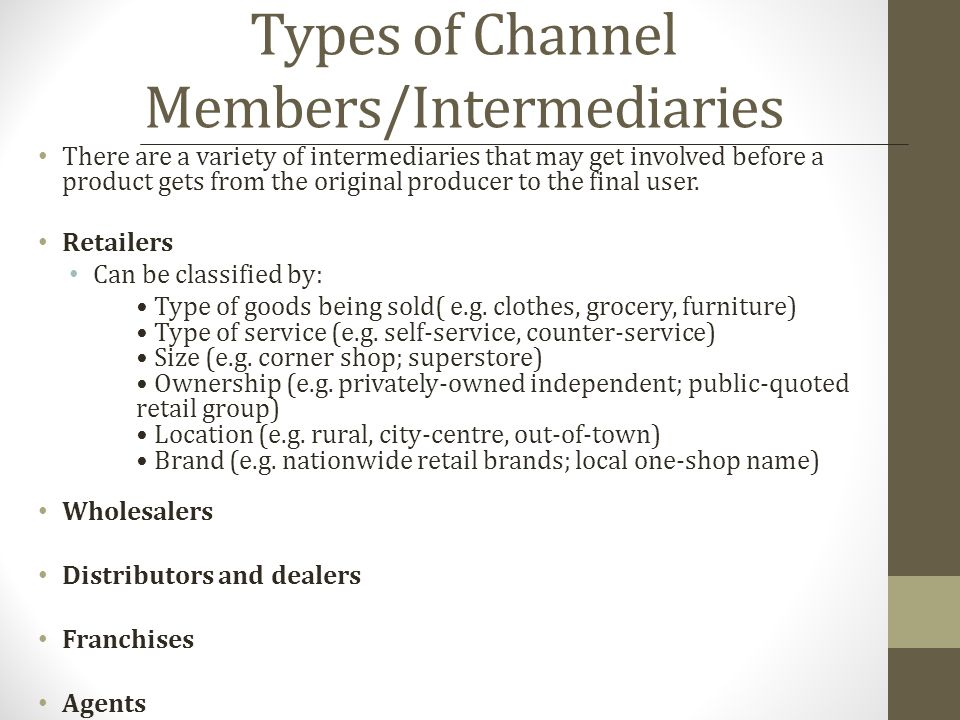 What is the importance of middlemen in channel of distribution.
