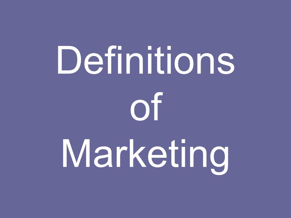 Marketing is the human activity directed at satisfying human needs and wants through an exchange process.