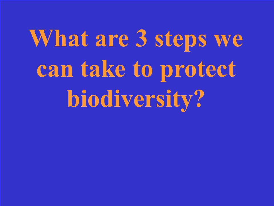 What is: 1.Biodiversity could serve as a future source of medicines.