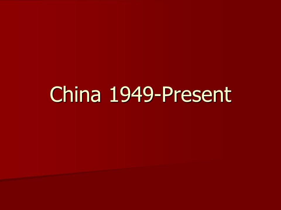 China 1949-Present