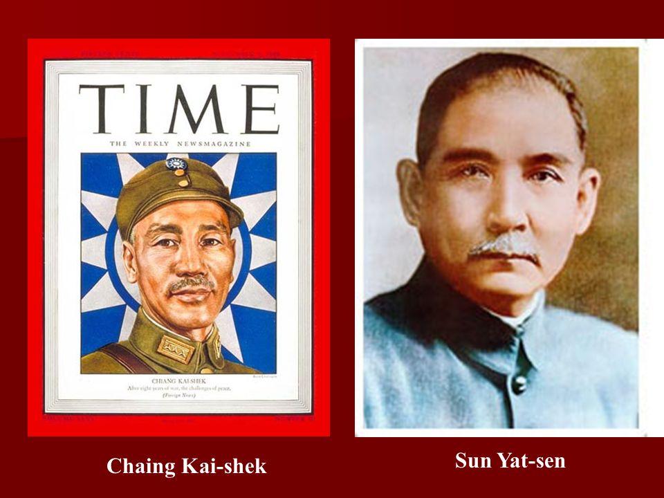 Chaing Kai-shek Sun Yat-sen