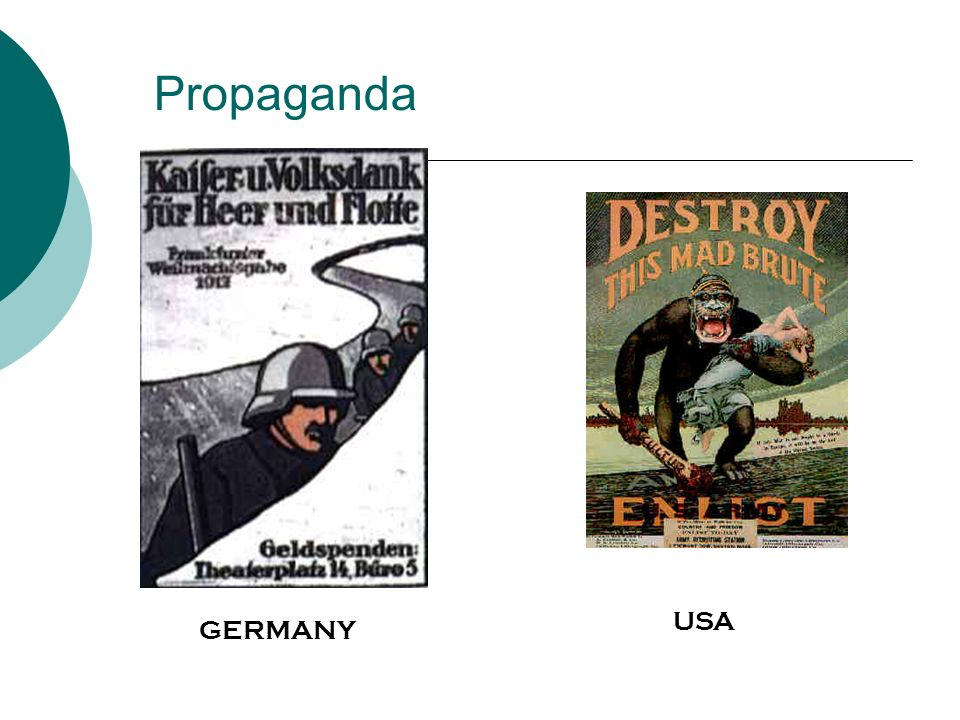 Propaganda GERMANY USA