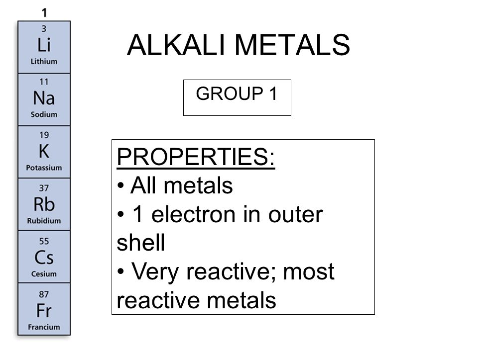 ALKALINE EARTH METALS (AEM) PROPERTIES: All metals 2 electrons in outer shell Very reactive; 2nd most reactive group of metals GROUP 2