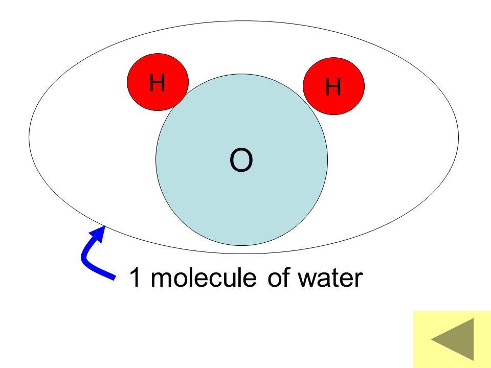 O H H 1 molecule of water