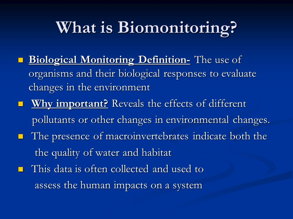 What is Biomonitoring.