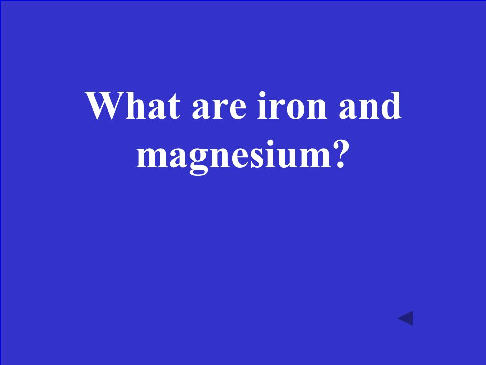 A mafic igneous rock tends to be dark in color because it is rich in these elements.
