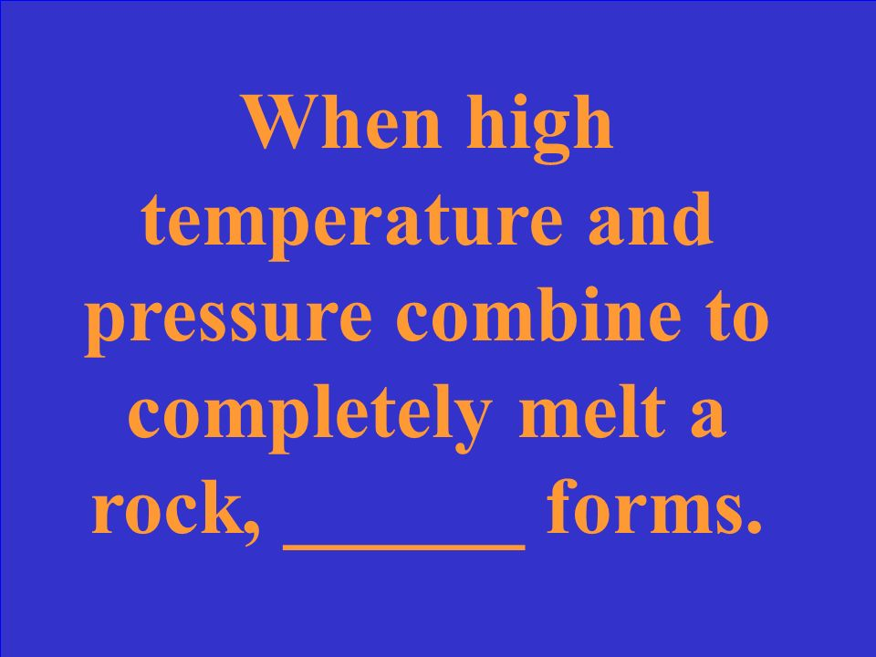 What are non- foliated metamorphic rocks
