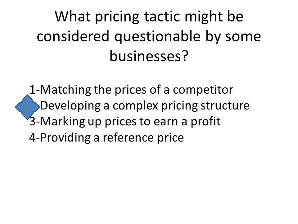 What is an example of an unethical pricing practice.