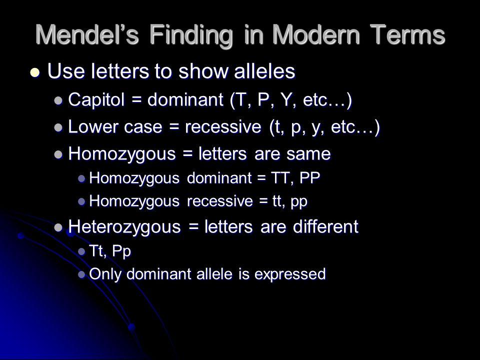 Genotype = set of alleles Genotype = set of alleles What you actually have What you actually have TT, Tt, or tt TT, Tt, or tt Phenotype = what is expressed Phenotype = what is expressed How it looks How it looks Tall, Tall, or Short Tall, Tall, or Short