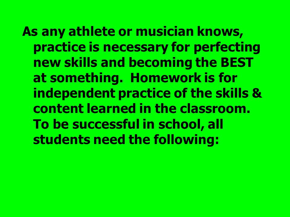 As any athlete or musician knows, practice is necessary for perfecting new skills and becoming the BEST at something.