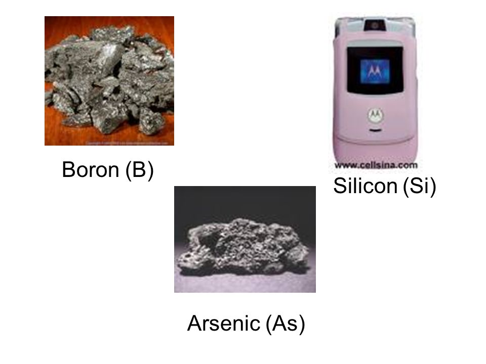 Boron (B) Silicon (Si) Arsenic (As)