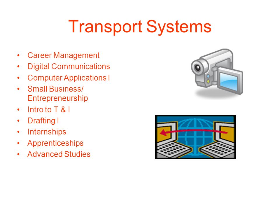 Transport Systems Career Management Digital Communications Computer Applications I Small Business/ Entrepreneurship Intro to T & I Drafting I Internsh