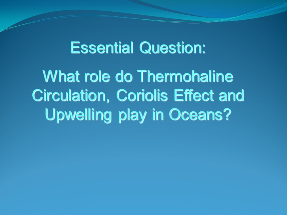 How does upwelling work.