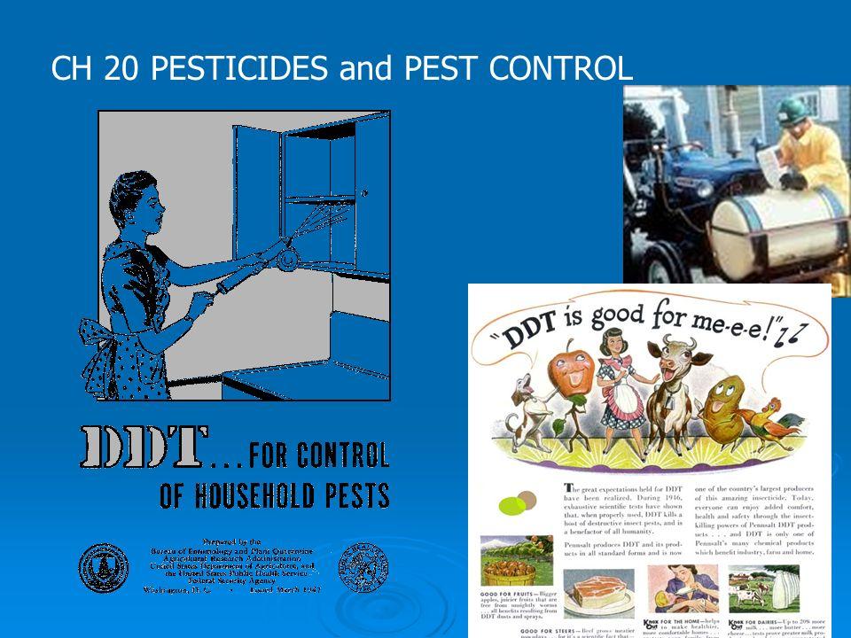 CH 20 PESTICIDES and PEST CONTROL