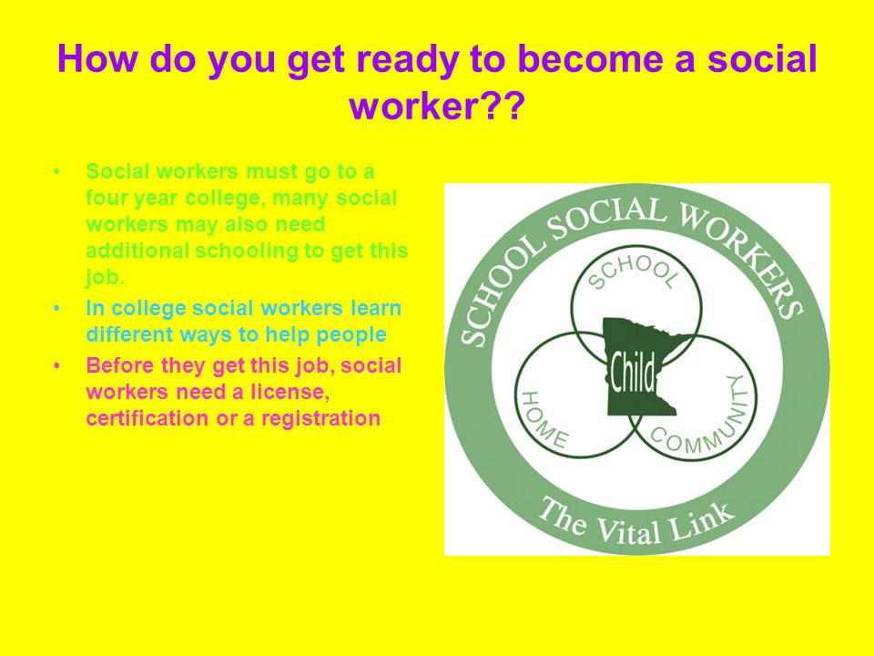 How do you get ready to become a social worker .