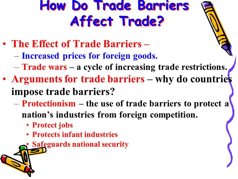 How Do Trade Barriers Affect Trade.