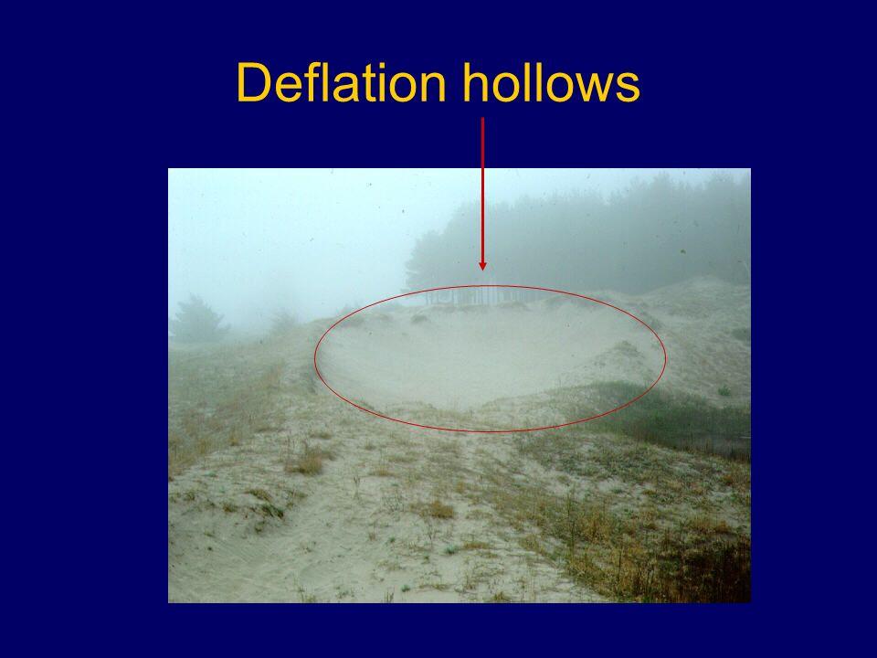 Deflation hollows