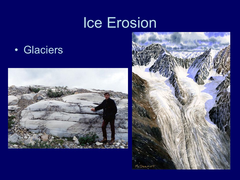 Ice Erosion Glaciers