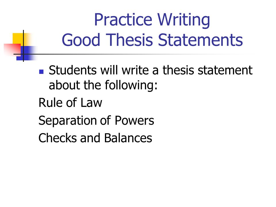 thesis writing exercise