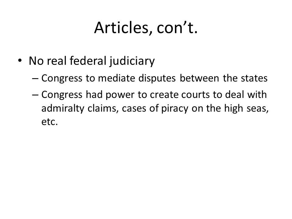 Articles, cont.