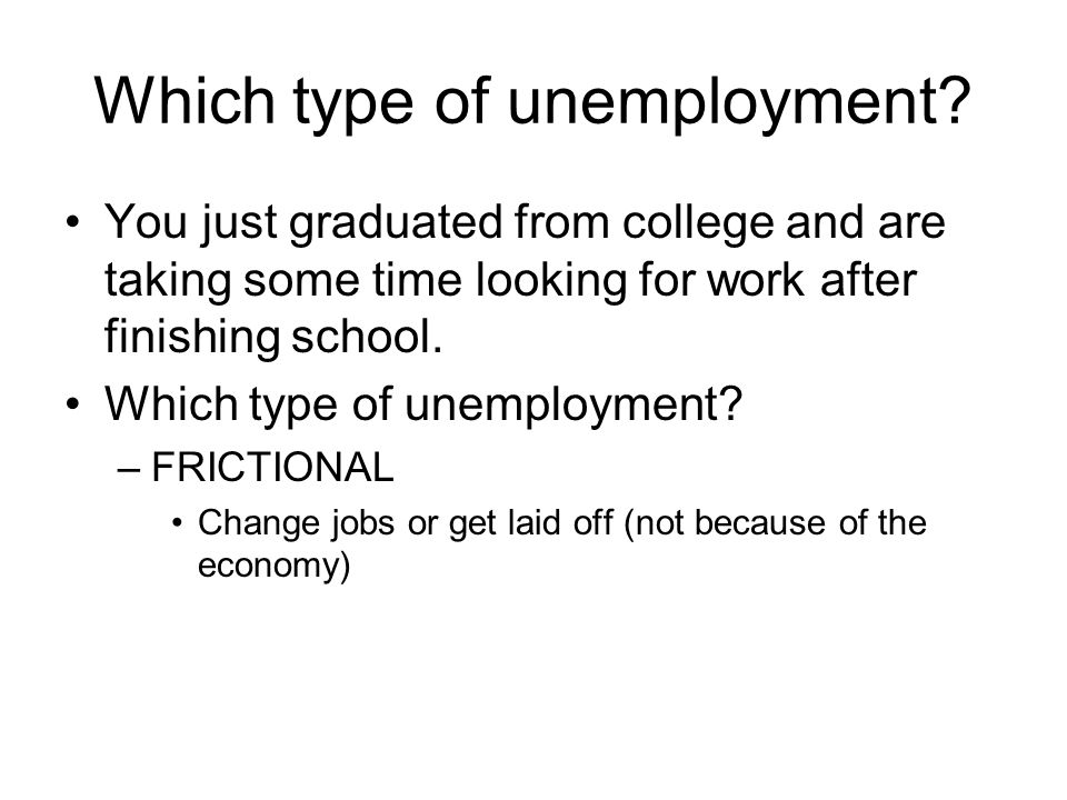 You just graduated from college and are taking some time looking for work after finishing school.
