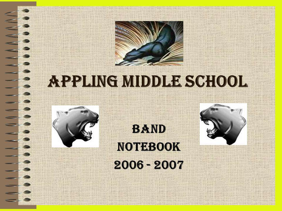 APPLING MIDDLE SCHOOL BAND NOTEBOOK
