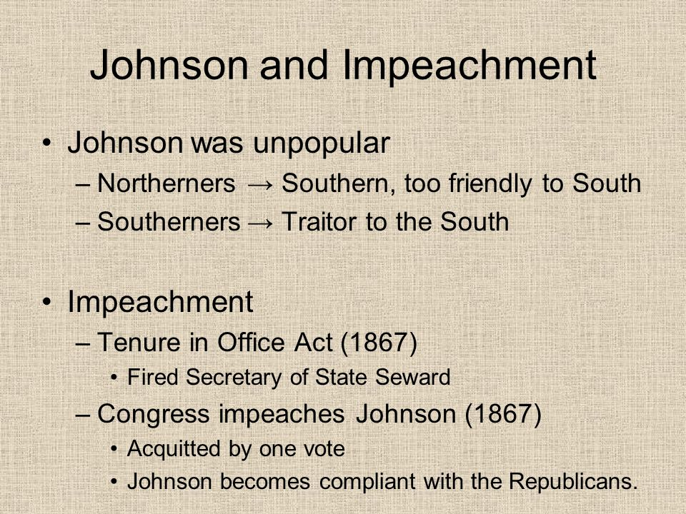 Radical Reconstruction Period beginning in 1866 Goals: –Punish the South –Protect Rights of Freedmen How.