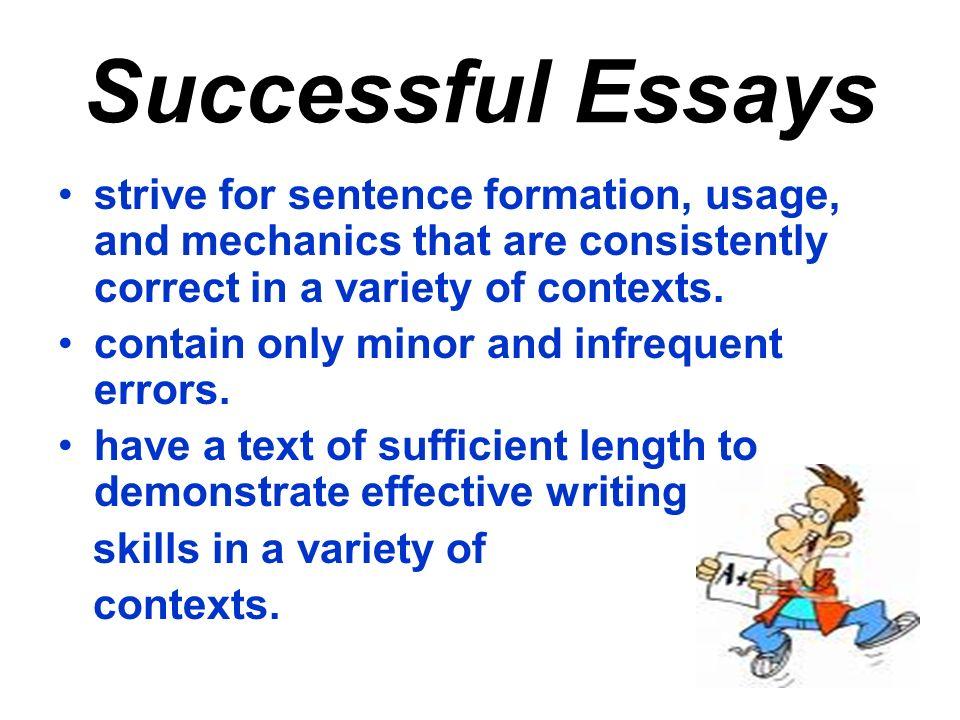 correct essay usage