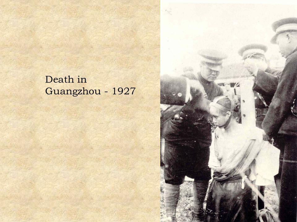Death in Guangzhou - 1927