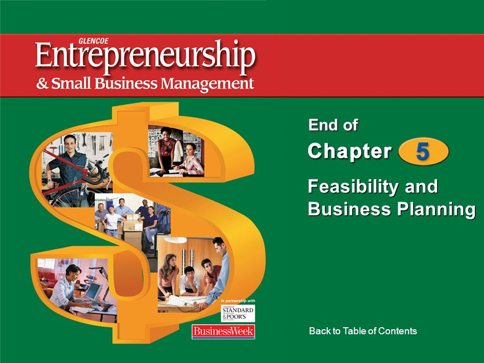 Feasibility and Business Planning Back to Table of Contents End of