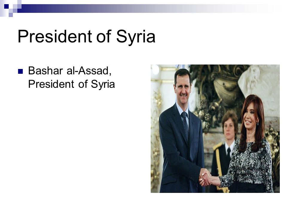 President of Syria Bashar al-Assad, President of Syria