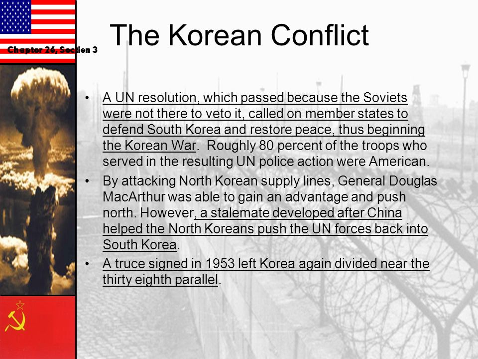 Communist Expansion in Asia The Division of Korea World War II ended before a plan could be made for Korean independence from Japan. Korea was tempora