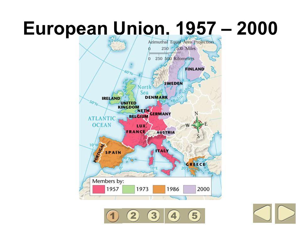 European Union, 1957 – 2000 1