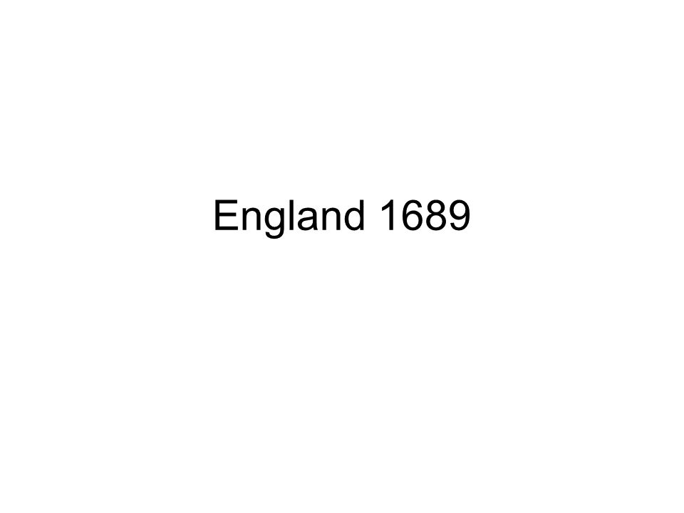 England 1689