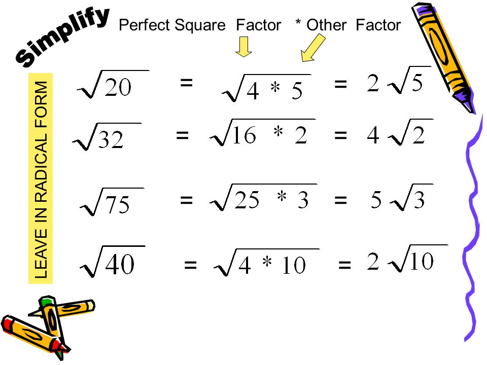 Multiply Square Roots Multiply the coefficients Multiply the radicands Simplify the radical.