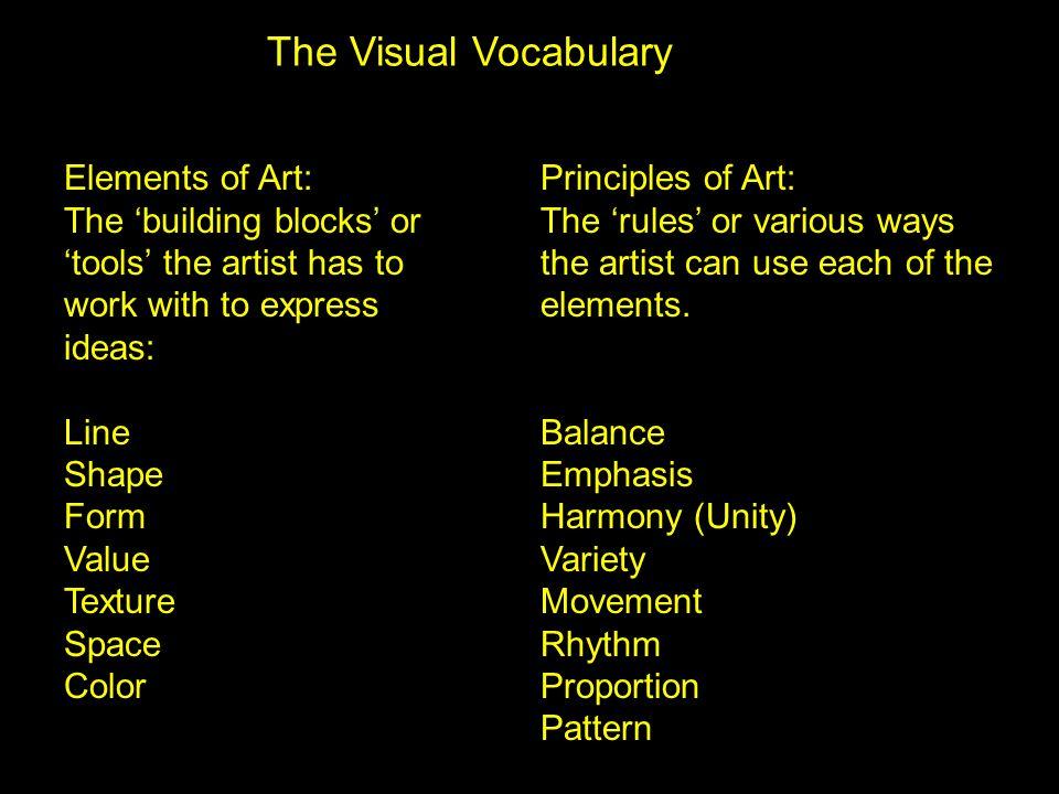 Line & Movement Vincent van Gogh, A Sidewalk Café at Night, Arles Rembrandt Harmenszoon van Rijn, The Mill Value & Harmony