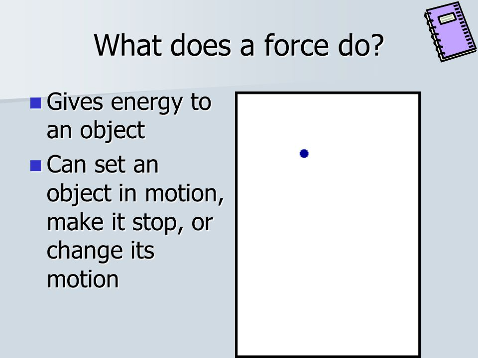 What is a force? A push or a pull May be unbalanced or balanced