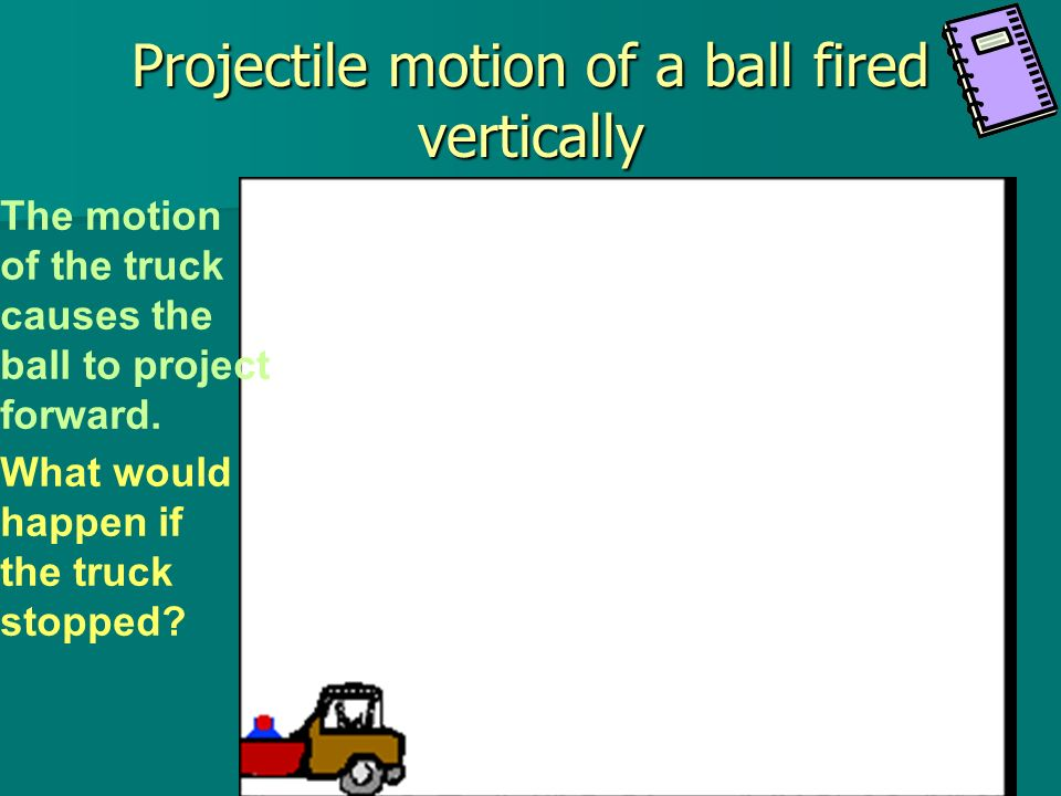 In this video, the ball is dropped straight down and moves forward due to inertia