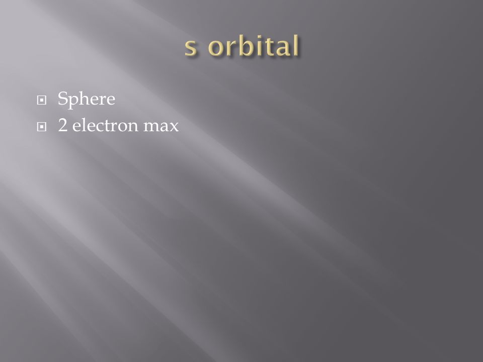 Sphere 2 electron max